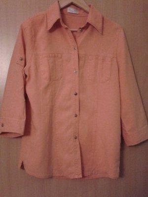 Damen Bluse Leinenbluse Größe S (M) Bonita orange 51 % Leinen, 49 % Lyocell