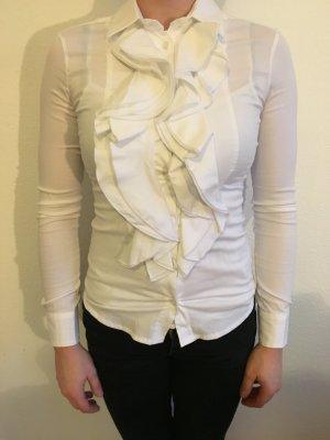 Damen Bluse mit Rüschen weiß Imperial XS top Zustand