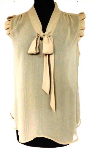 Tie-neck Blouse nude