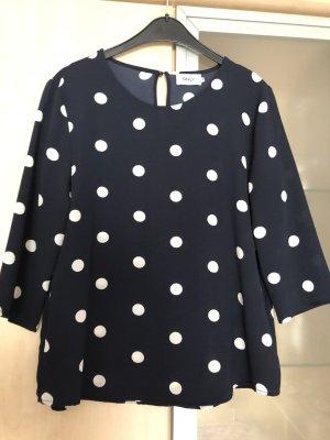 Damen Bluse Only Gr 38 Blau mit Weißen Punkten Neu