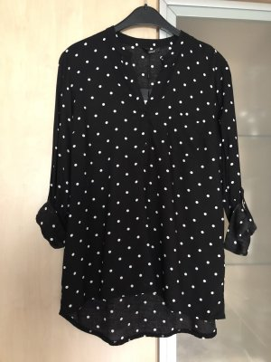 Damen Bluse Only schwarz mit weißen Punkten Gr 36 Neu mit Etikett