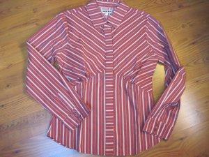 Damen Bluse, rot-weiß, Gr. 40