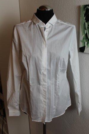 Damen Bluse Slim Fit Hemd Weiss