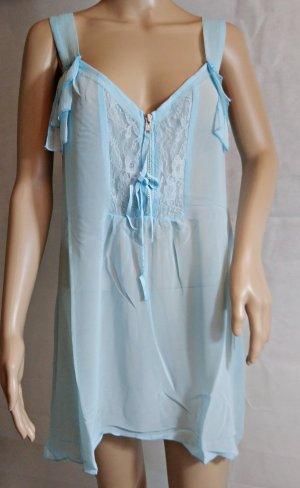 Bodyflirt Mouwloze blouse lichtblauw Polyester