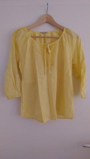 Best mountain Tunic Blouse yellow cotton