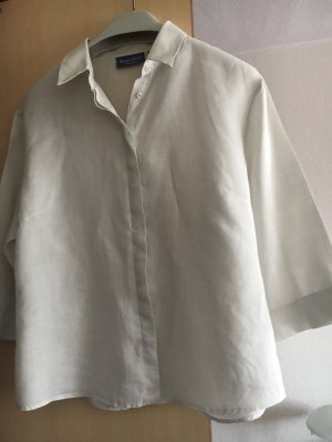 Marco Pecci Blusa in lino bianco sporco