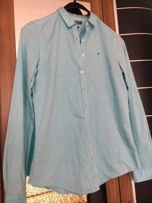 Tommy Hilfiger Colletto camicia blu neon