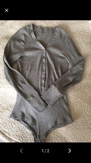 Chemise côtelée gris