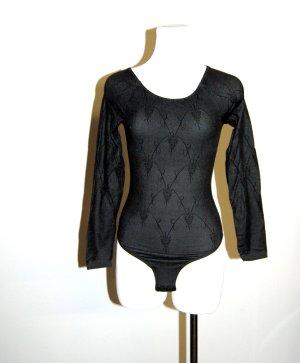 Damen Body Transparent - schwarz Langarm von Wolford Gr. M-38