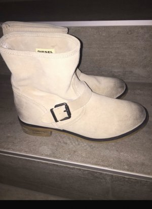 Diesel Chelsea Boots natural white-light grey suede