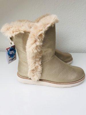 Damen Boots Gr. 38 ZARA Beige - Gold
