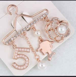 Brooch rose-gold-coloured