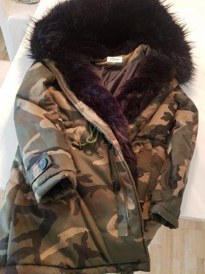 Damen Camuflage Winter Parka