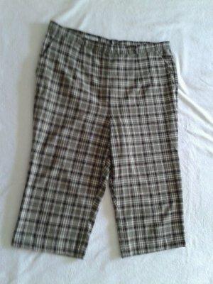 Pantalón capri color plata-beige