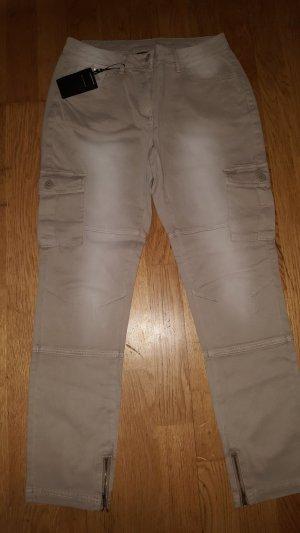 7/8-jeans zandig bruin