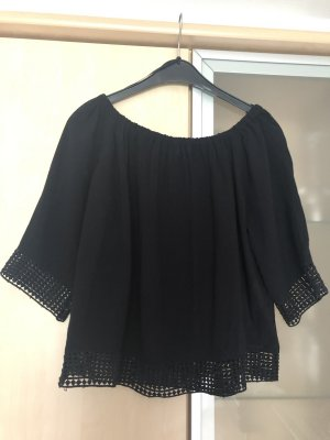Damen Carmen Bluse Shirt Gr 36 S Jacqueline De Yong Schwarz Neu