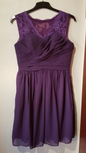 Robe de bal bleu violet