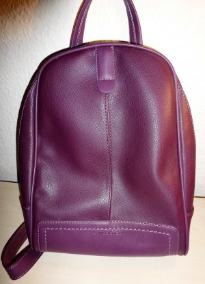 David Jones Backpack purple-dark violet polyurethane