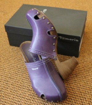 Rieker Mules lilac leather