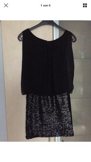 Damen Cocktail Abend Kleid schwarz Gr 36  Laura Scott mit Pailletten Rock Neu