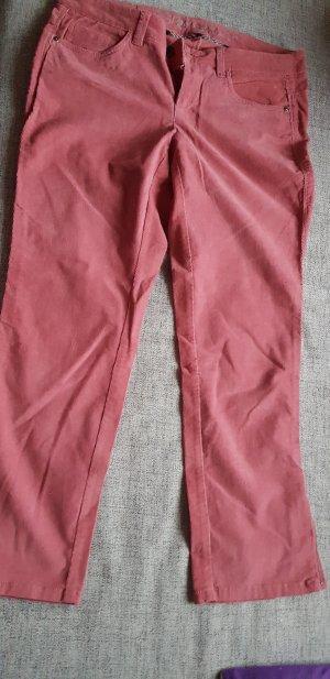 Esprit Pantalon en velours côtelé rose