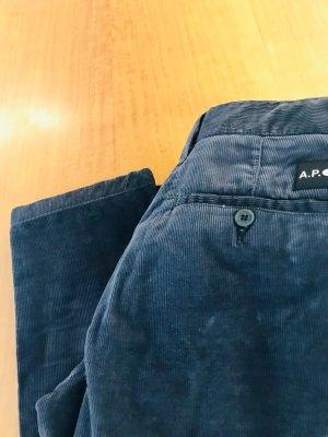 A.P.C. Pantalón de pana gris oscuro