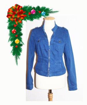 Damen Cotton Jacke Blau 44