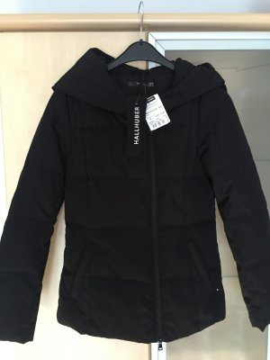 Damen Daunen Jacke schwarz Gr 36 Hallhuber mit Kapuze Neu mit Etikett