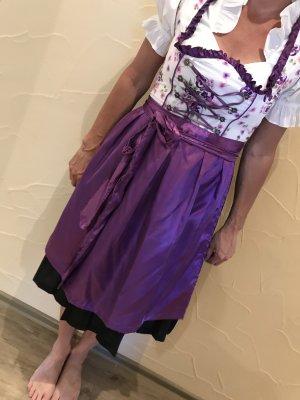 Lifos Dirndl violet foncé-blanc