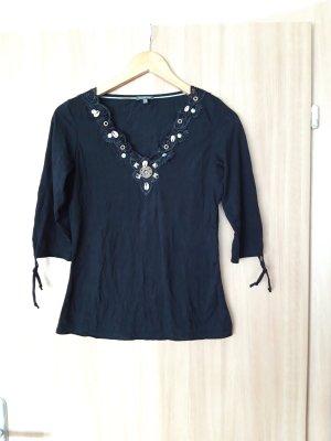 Damen dünner Pullover Shirt Street One schwarz Größe S