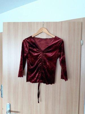 Damen dünner Pullover Shirt weinrot Größe M Orsay