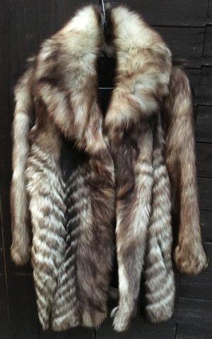 Damen Echt Pelz Mantel Jacke Gr.38 S