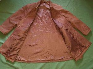 Leather Coat dark orange