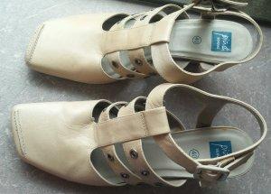 Damen Echtleder Sommer Schuhe von PIUDI SERVAS Gr. 40 in Beige Wunderschön WOW