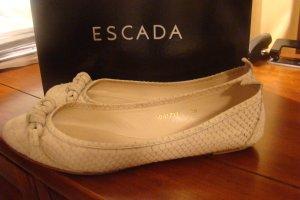 Escada Ballerinas with Toecap beige leather