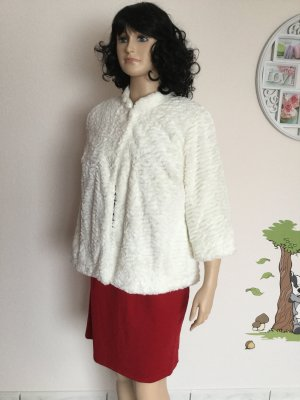Damen Faux-Fur Jacke mit 3/4 - Ärmeln von Alfred Dunner Gr.44/46