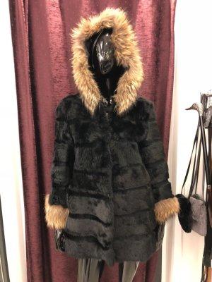 Giacca di pelliccia nero-bronzo