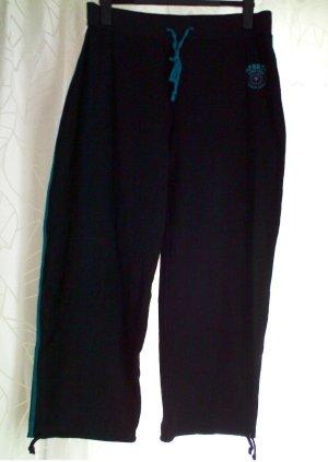 Damen Fitness Sport Yoga Hose Gr. 46/ 48 schwarz türkis