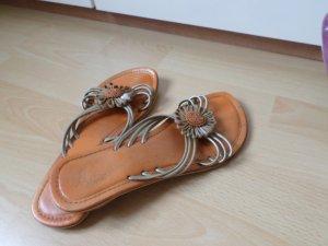 Damen Flache Sandalen Flip-Flops Sommer Schuhe Große 37