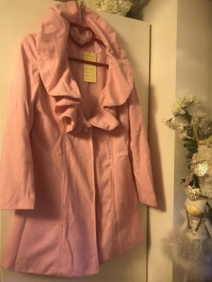 Damen Fleece Mantel Rosa Neu S/M Neu