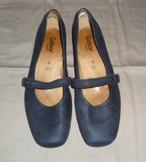 Gabor Strappy Ballerinas dark blue
