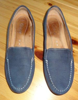 Gabor Mocassins bleu foncé cuir