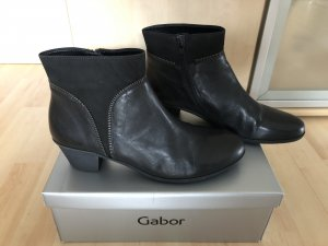 Damen Gabor Stiefeletten Schwarz Leder Gr 40 6,5 wie Neu