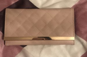 Wallet pink-gold-colored