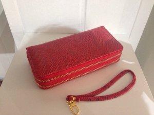 Damen Geldbörse Geldbeutel Portmonee Brieftasche Portmonnaie Rot Sommer