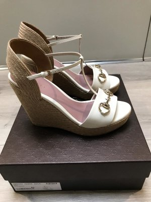 Gucci Wedge Sandals white