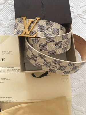 Louis Vuitton Cinturón blanco