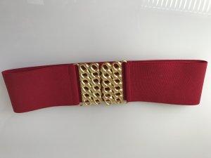 Damen Gürtel rot / Gold