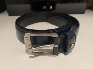 Aigner Cinturón de cuero azul oscuro