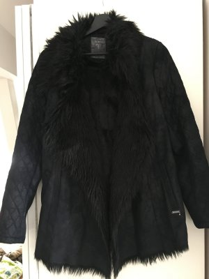 Guess Winter Jacket black leather